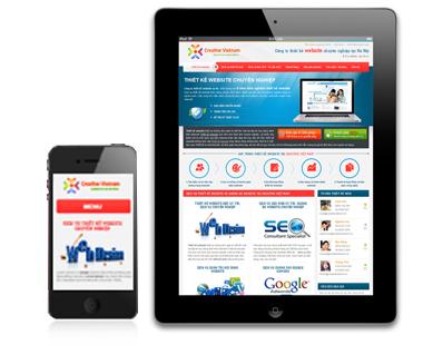 thiết kế web trên phiên bản wap mobile