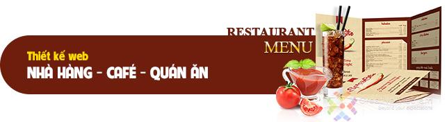 Thiết kế web Nhà hàng - Quán cafe - Quán ăn