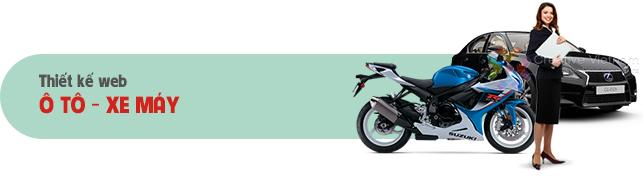 Thiết kế web Ô tô - Xe máy