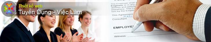 Thiết kế web tuyển dụng - web việc làm